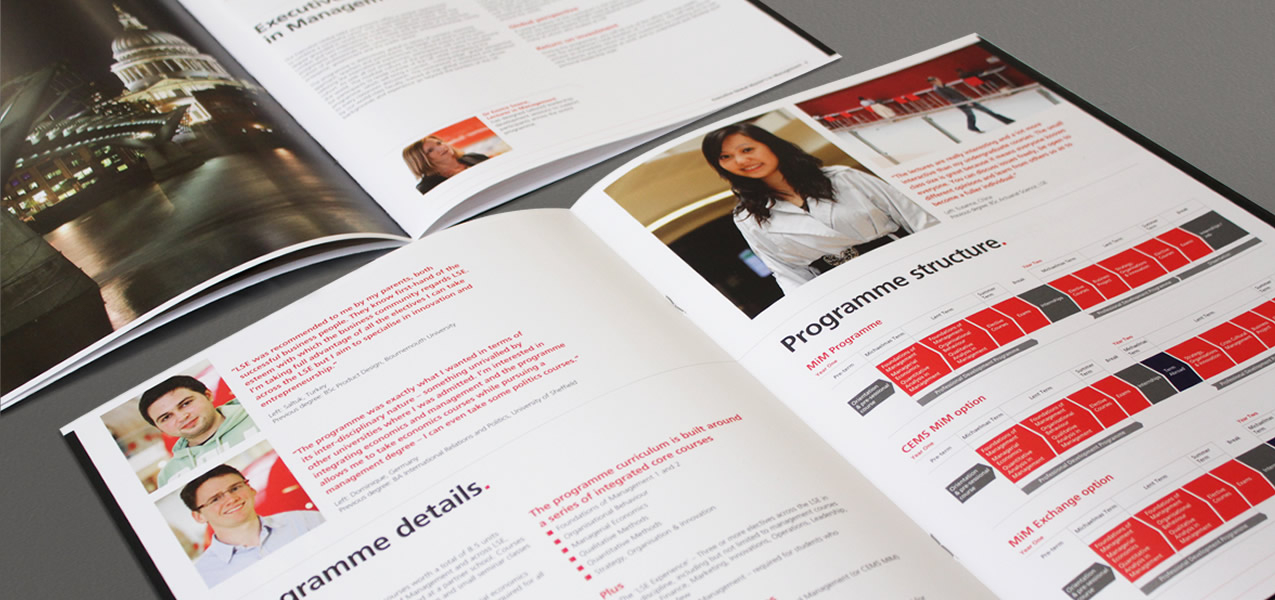 London School of Economics - Masters in management brochures