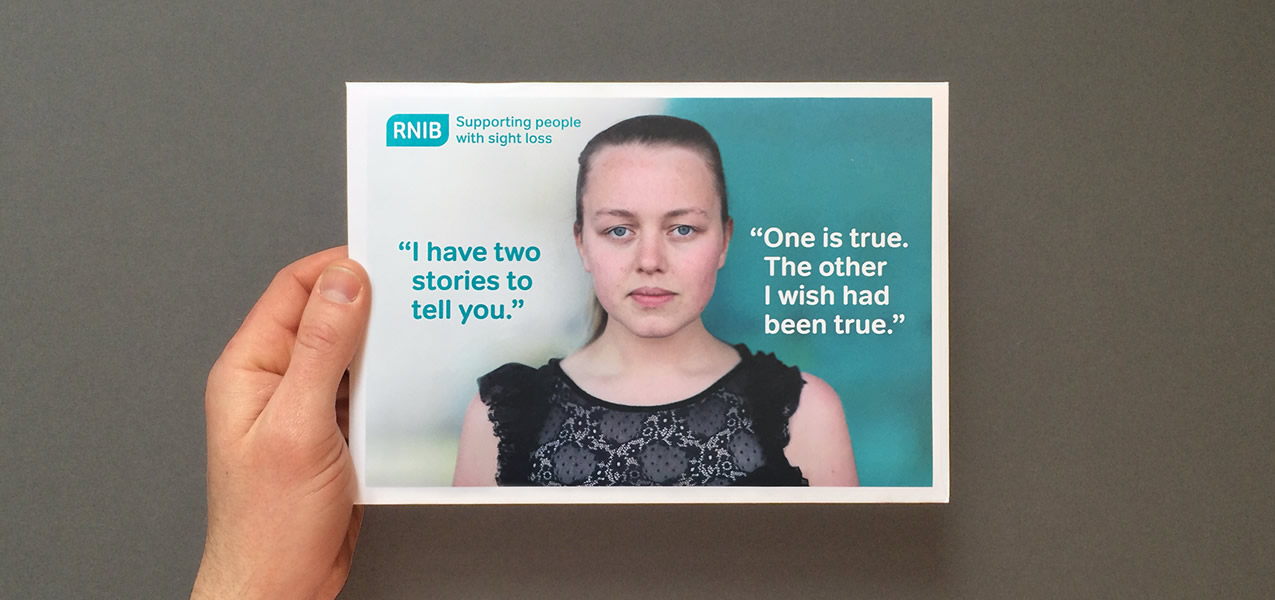 RNIB - Direct mail cash appeal to warm supporters