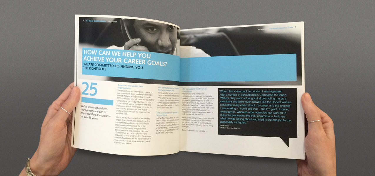 Robert Walters - Guide for newly qualified accountants brochure