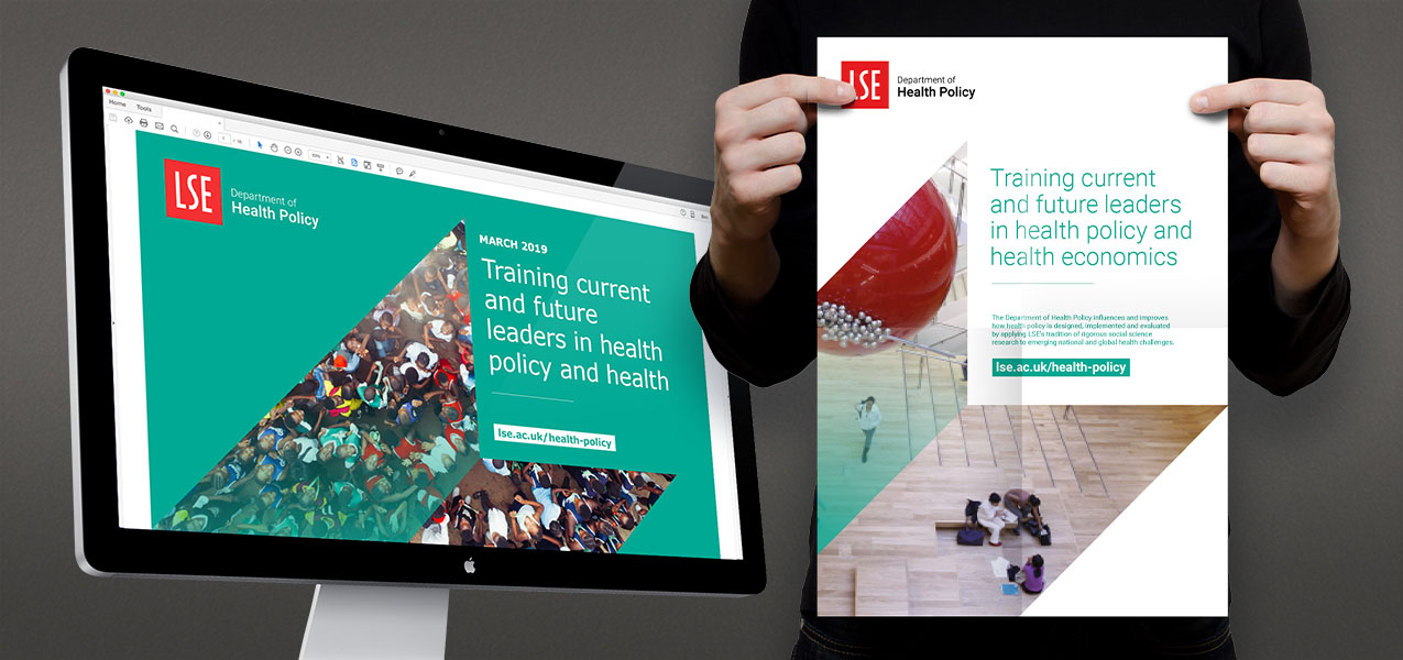 London School of Economics - Brand identity for Department of Health Policy