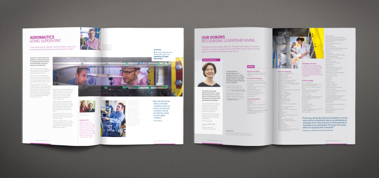 Imperial College London - Annual fundraising report