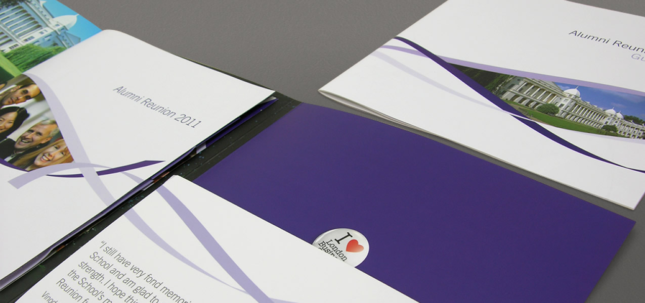 London Business School - Alumni Reunion event branding and collateral