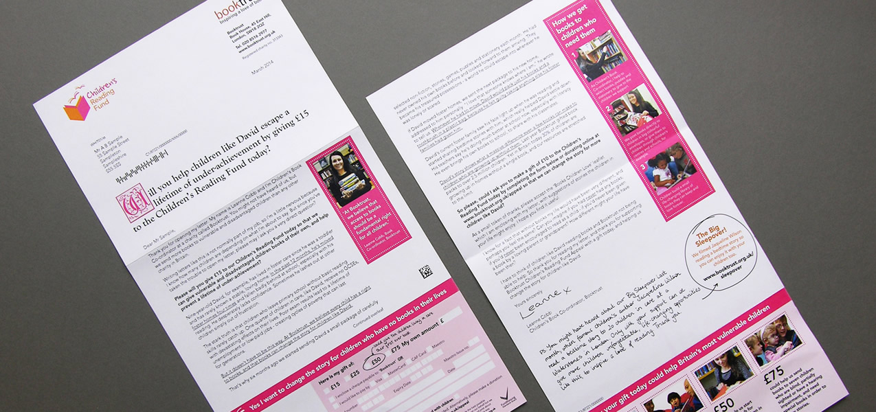 Booktrust - Cold Acquisition direct mail