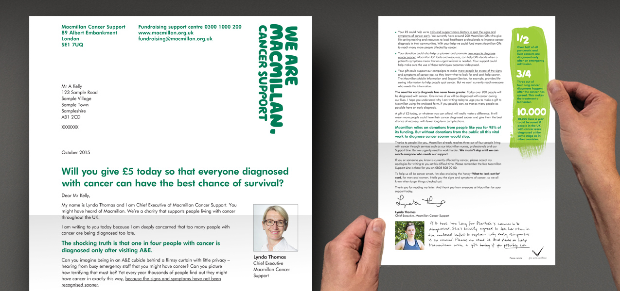 Macmillan Cancer Support - Acquisition direct mail