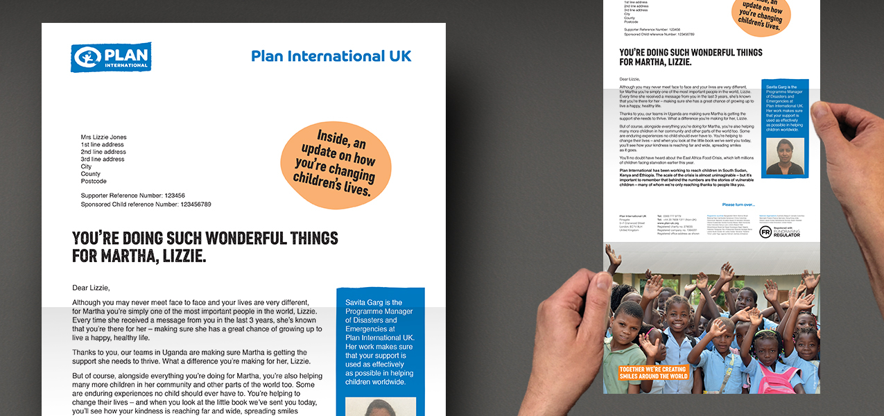 Plan International UK - Supporter retention communication