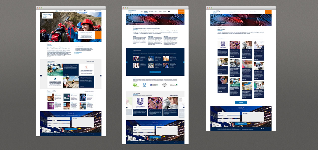 Responsive website and staff login for Imperial ...