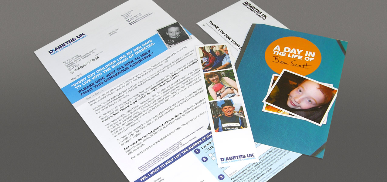 Diabetes - Day in the Life campaign direct mail