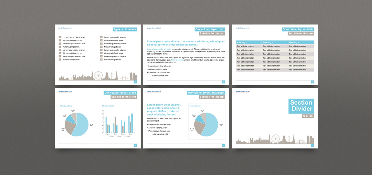 Powerpoint template design for london business school london business school powerpoint template design toneelgroepblik Image collections