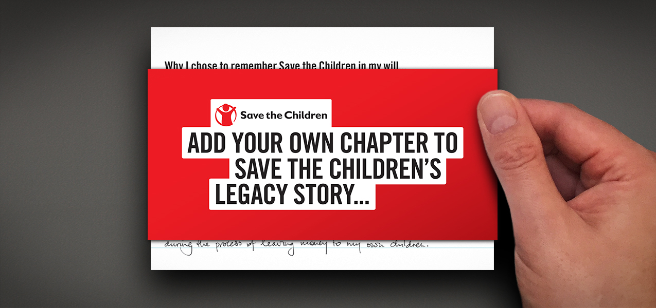 Save the Children - Legacy pledger welcome
