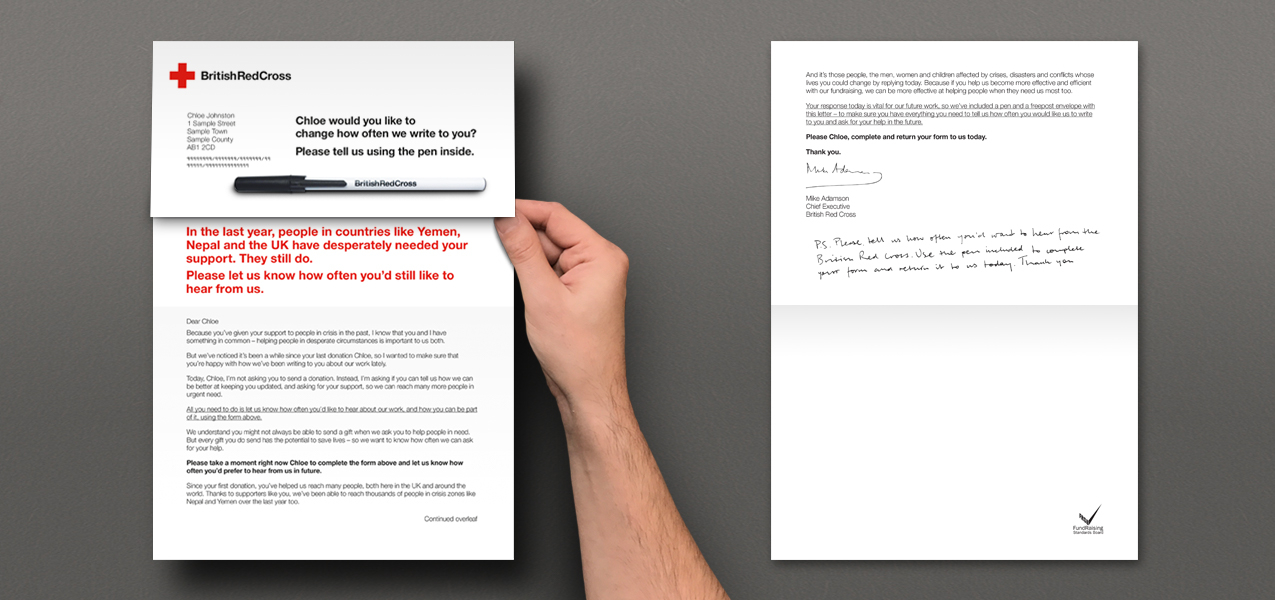 British Red Cross - Opt out preference request mailing