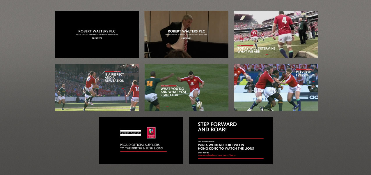 - The British & Irish Lions Tour 2013 sponsorship campaign