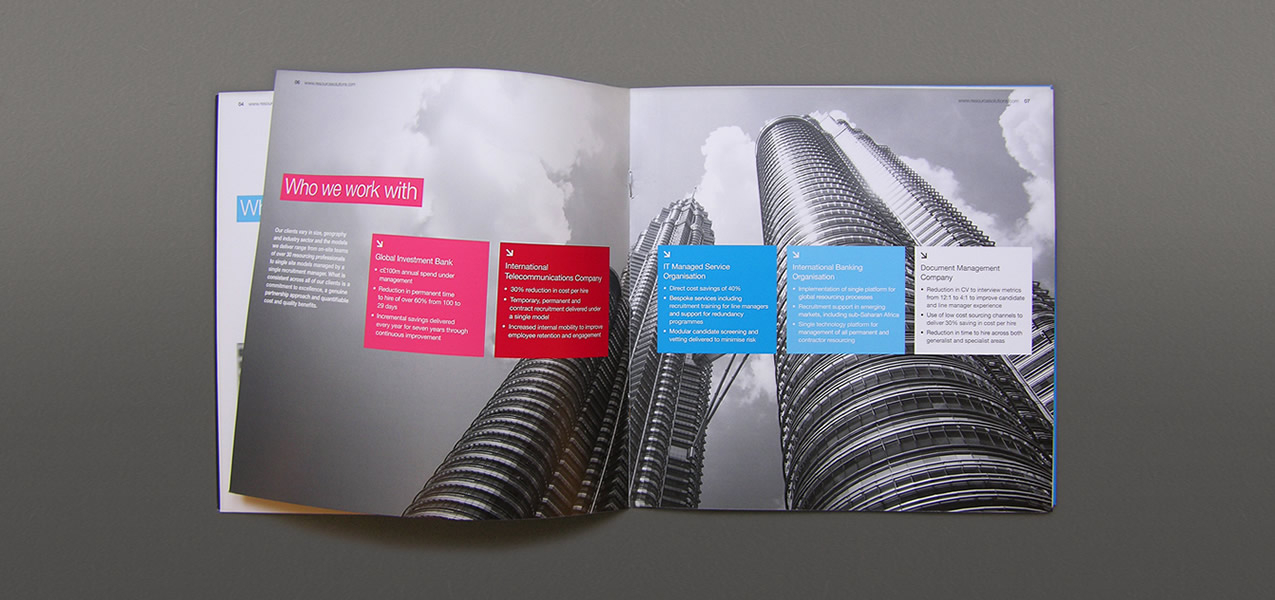 - Resource Solutions brand and brochure