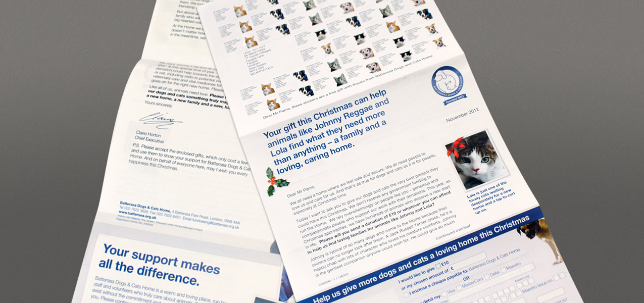 Battersea Dogs & Cats Home - Christmas mailing