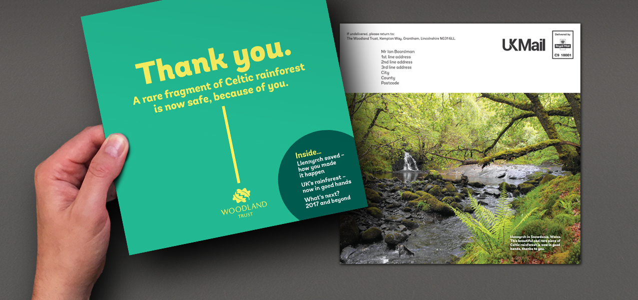 Woodland Trust - Supporter retention communication