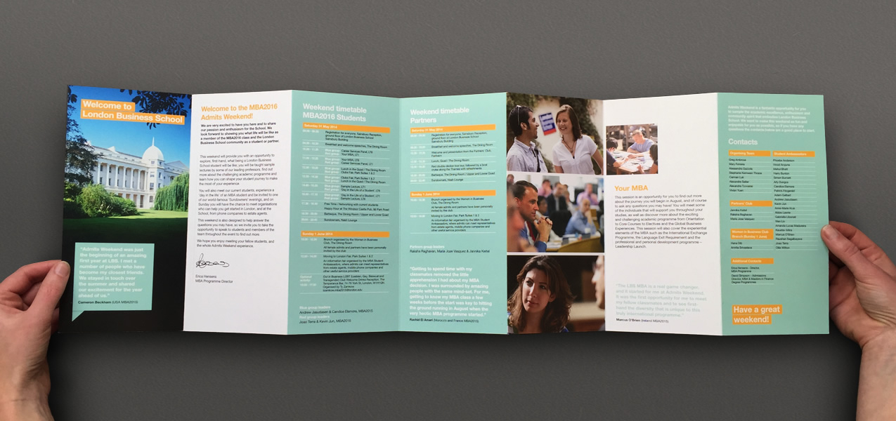 London Business School - Admits Weekend Brochure
