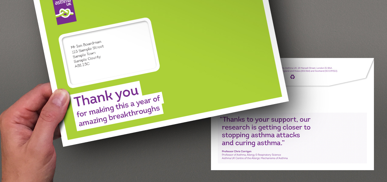 Asthma UK - Thank you pack