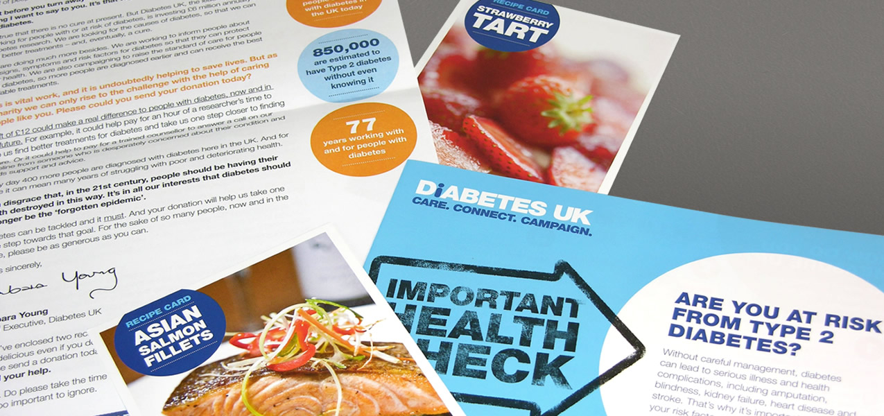 Diabetes - Health Check campaign direct mail