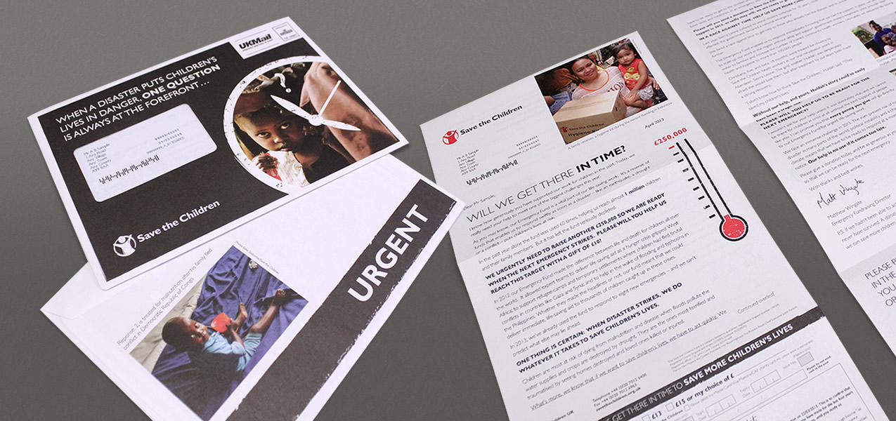Save the Children - Emergency fund direct mail appeal