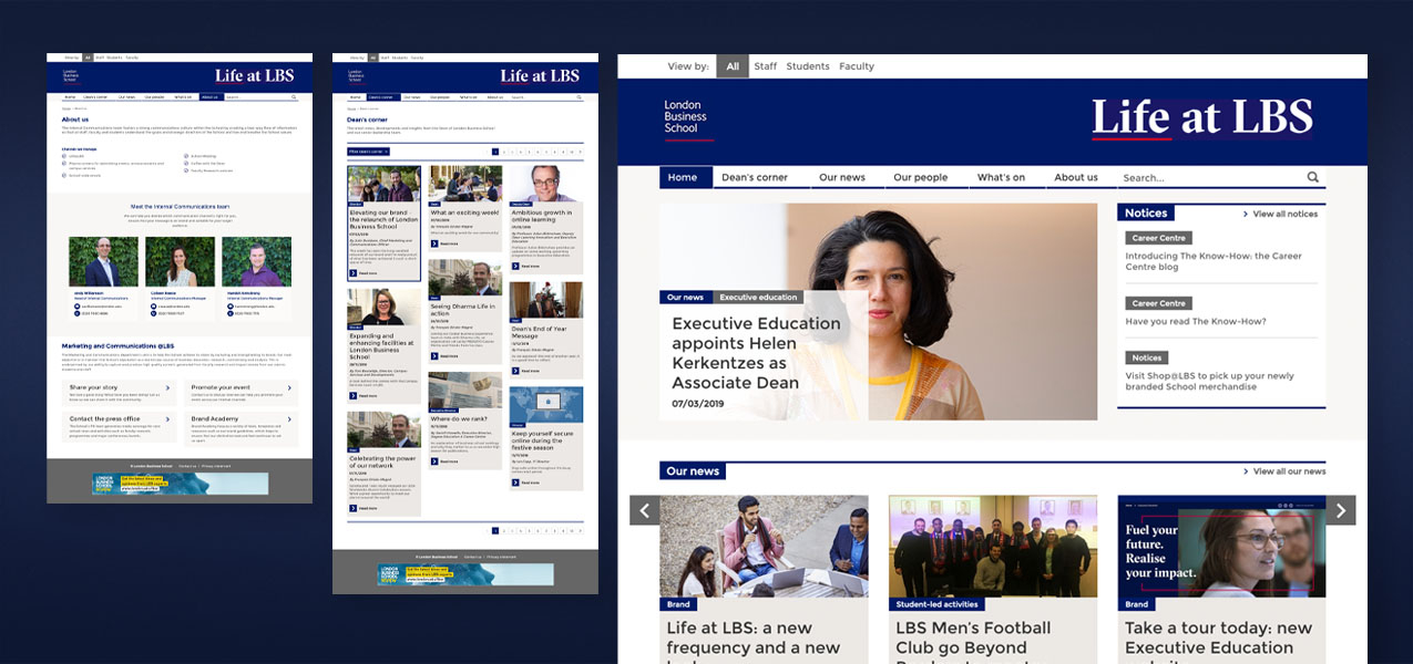 London Business School - Internal comms campaign - Digital engagement
