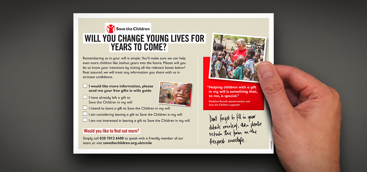 Save the Children - Legacy pledger acquisition