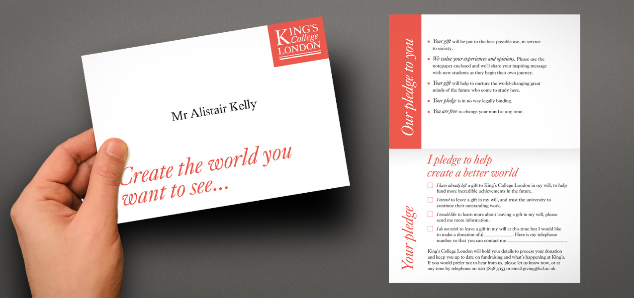 King's College London - Legacy Direct Mail Appeal