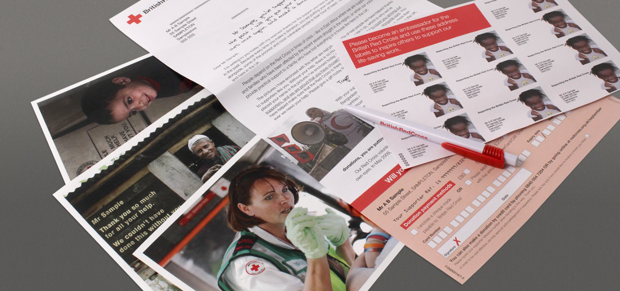 British Red Cross - Digital Personalisation campaign direct mail