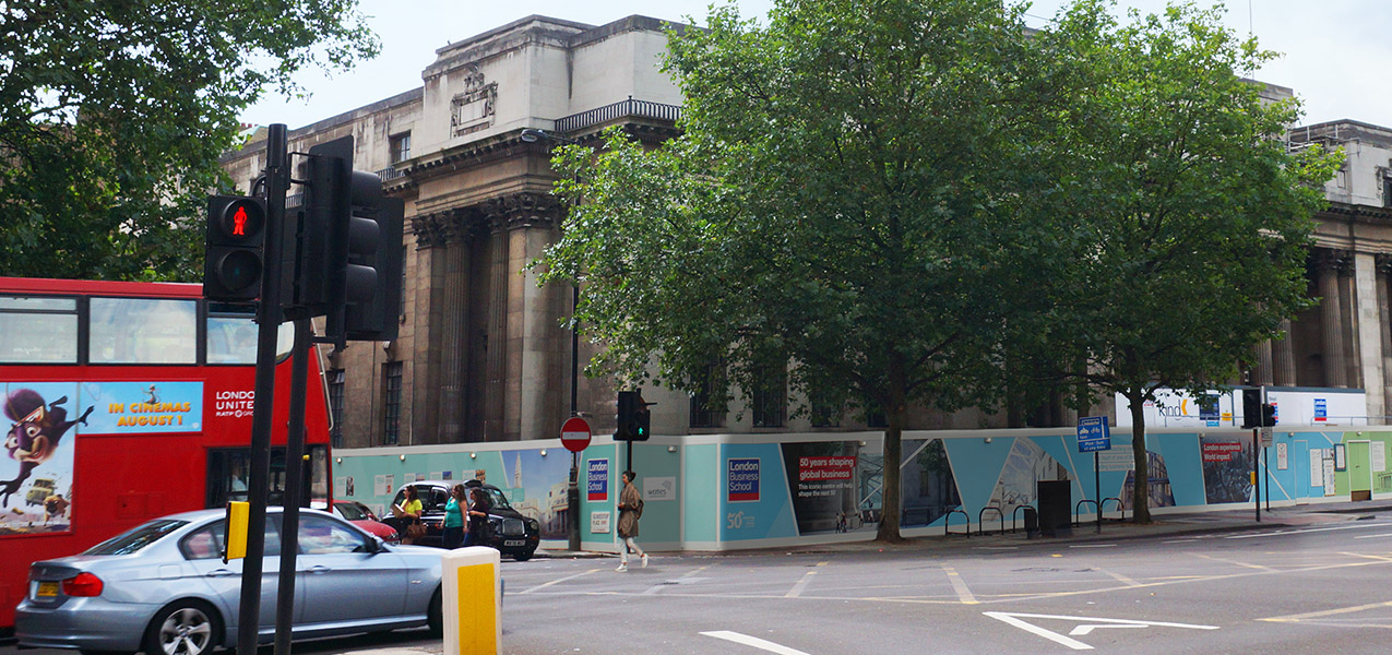 London Business School - Old Marylebone Town Hall Hoarding
