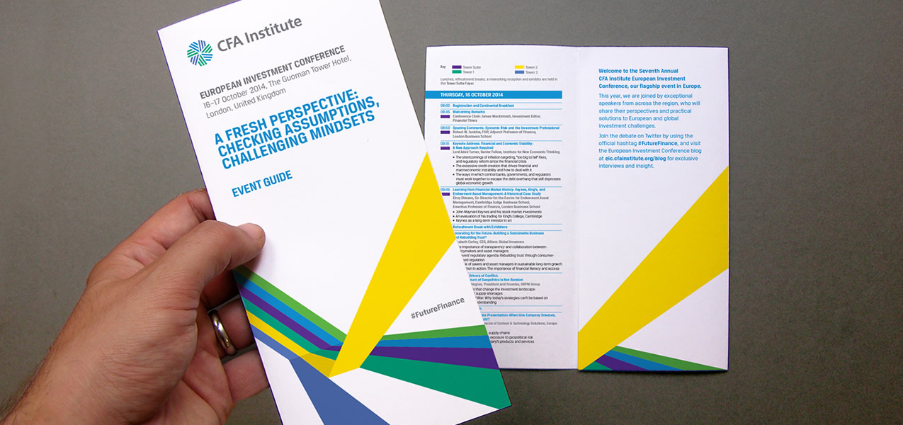 CFA Institute - EIC2014 Event branding