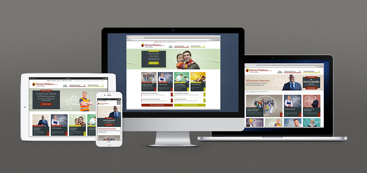 Dennis Watkins - Responsive website and brand development