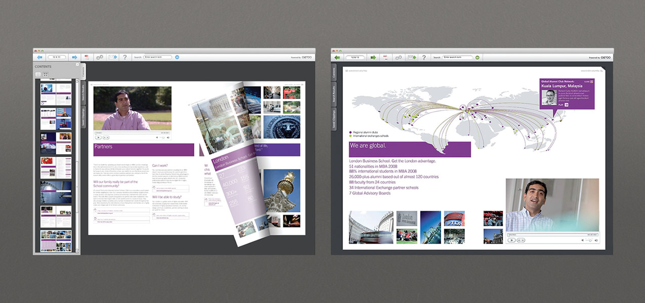 London Business School - MBA interactive brochure