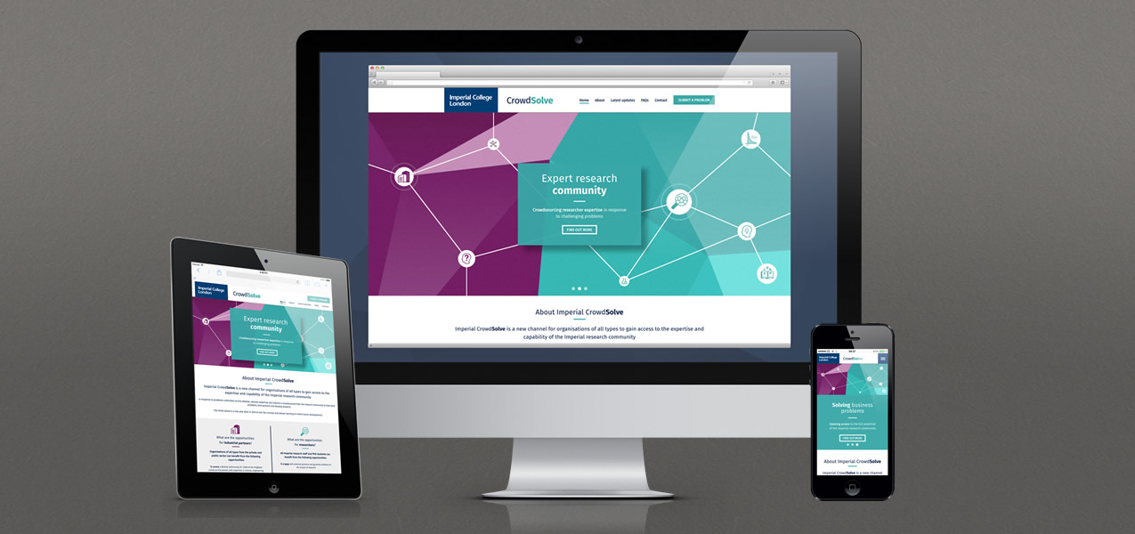 Imperial College London - Imperial CrowdSolve responsive website