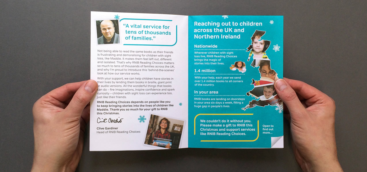 RNIB - Christmas 2014 Warm Direct Mail High Value