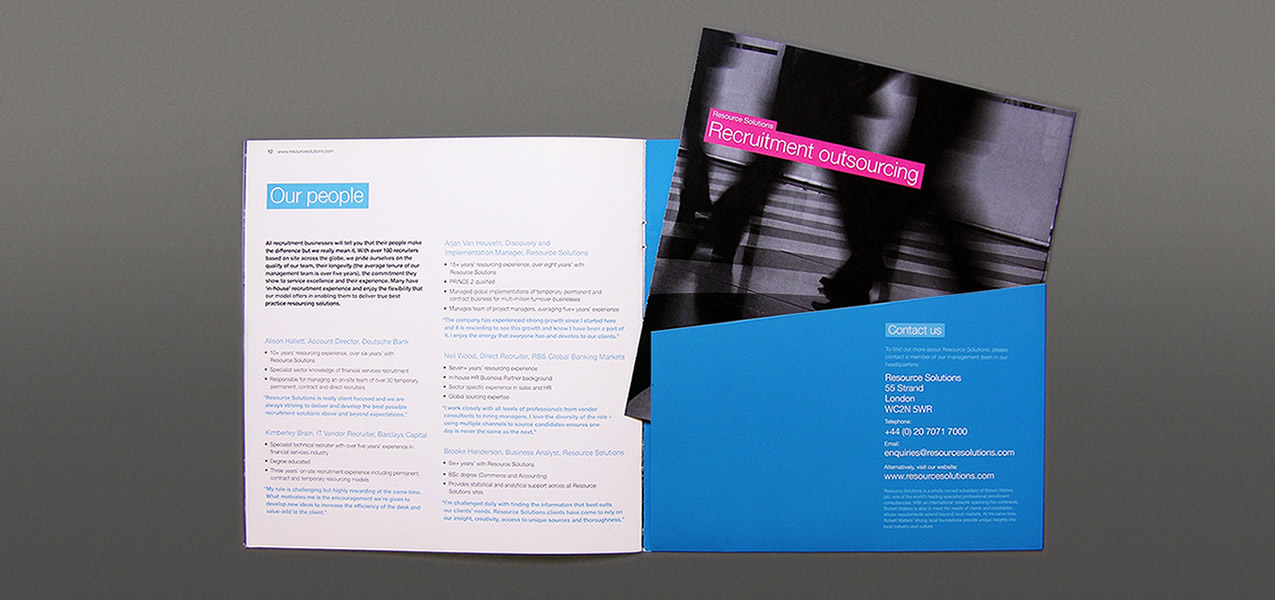 Robert Walters - Resource Solutions brand and brochure
