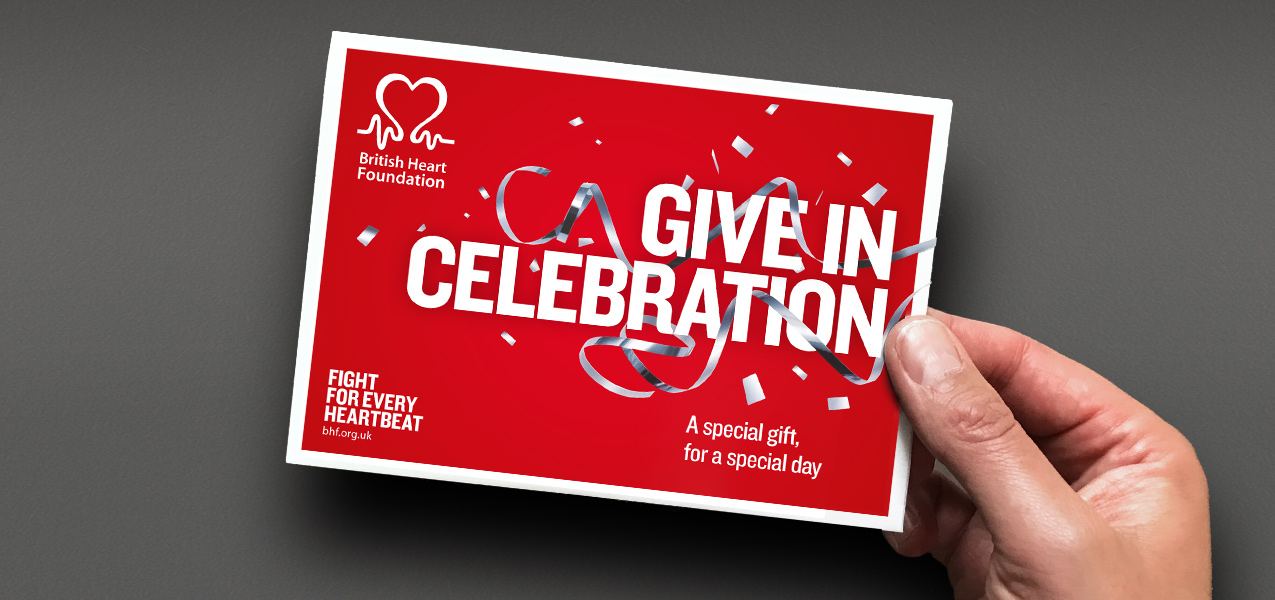 British Heart Foundation - Gift in Celebration brand and communications