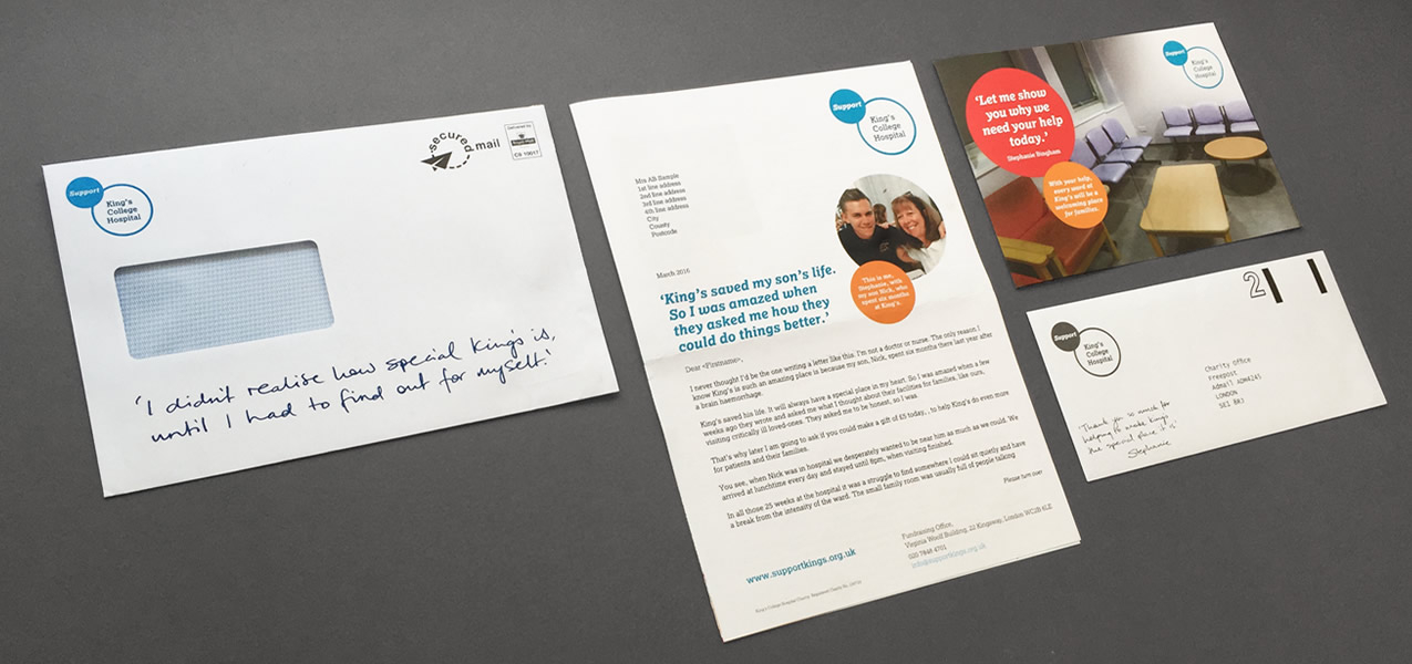 King's College Hospital - Spring 2016 direct mail appeal
