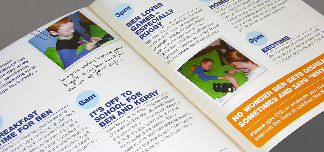 Diabetes UK - Day in the Life campaign direct mail