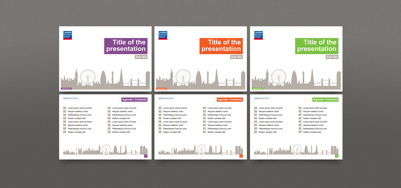 Powerpoint template design for london business school toneelgroepblik