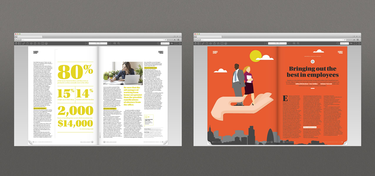 London Business School - Email and Digital Magazine Campaign