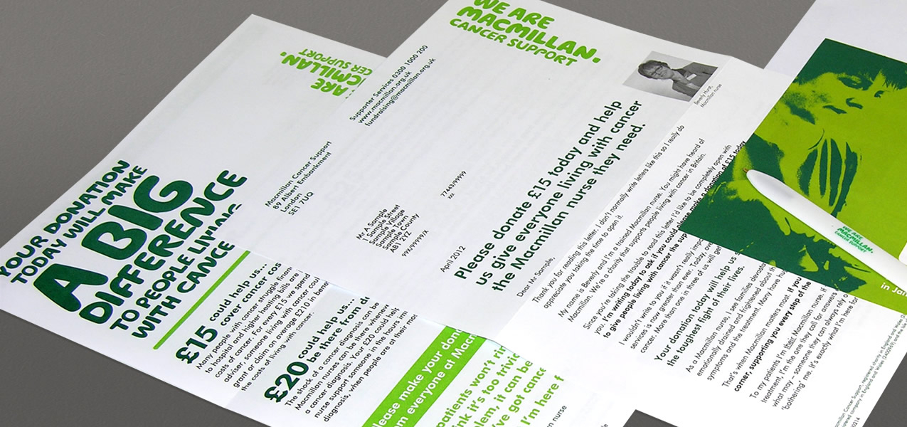 Macmillan Cancer Support - Nurse acquisition campaign direct mail