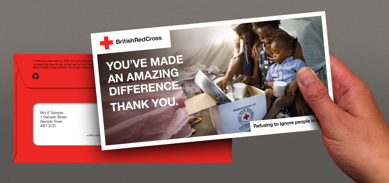 British Red Cross - Thanking & fulfilment journey strategy for regular and cash givers