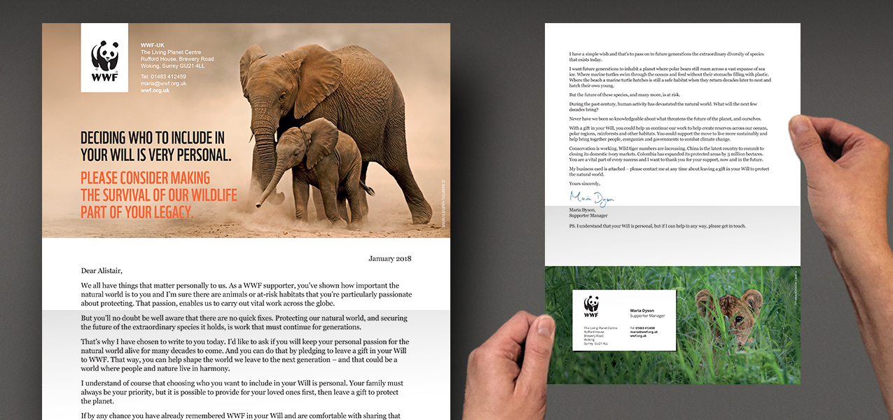 WWF - Legacy conversion mailing for warm supporters