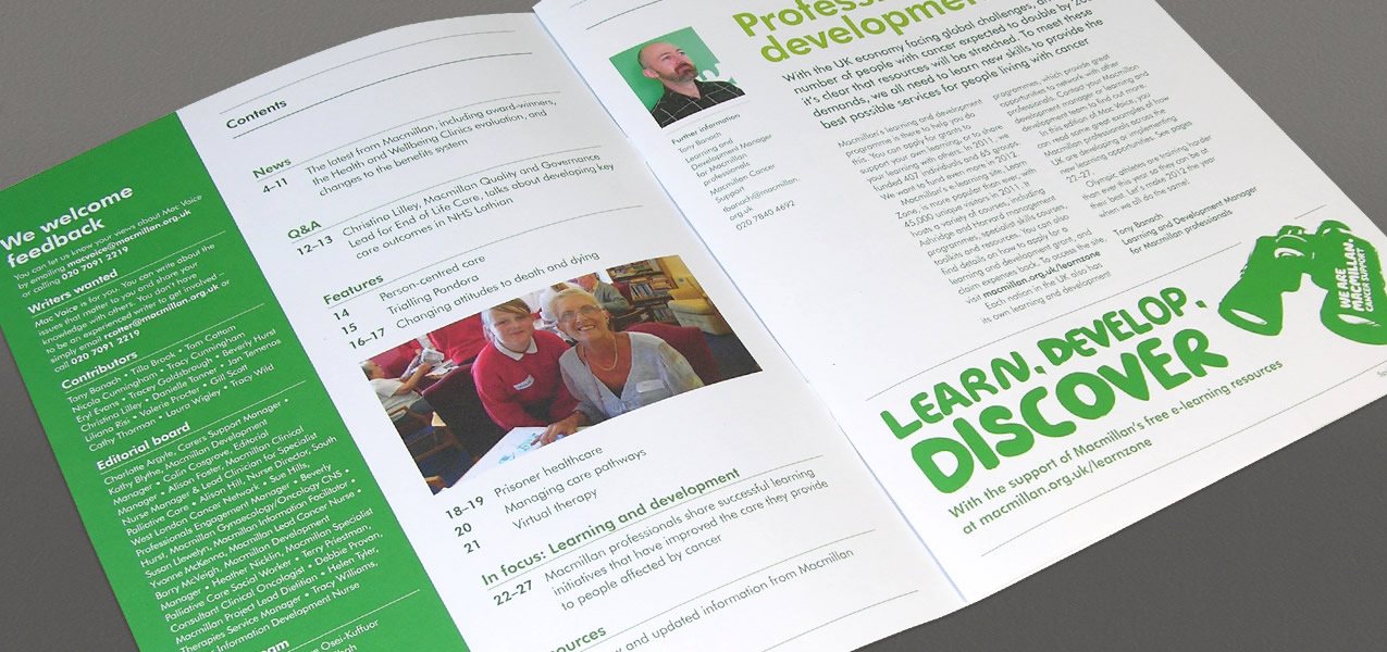 Macmillan Cancer Support - Mac Voice newsletter