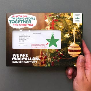 Macmillan Cancer Support - Christmas acquisition direct mail