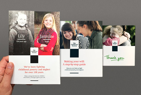 The Children's Society - Legacy marketing collateral